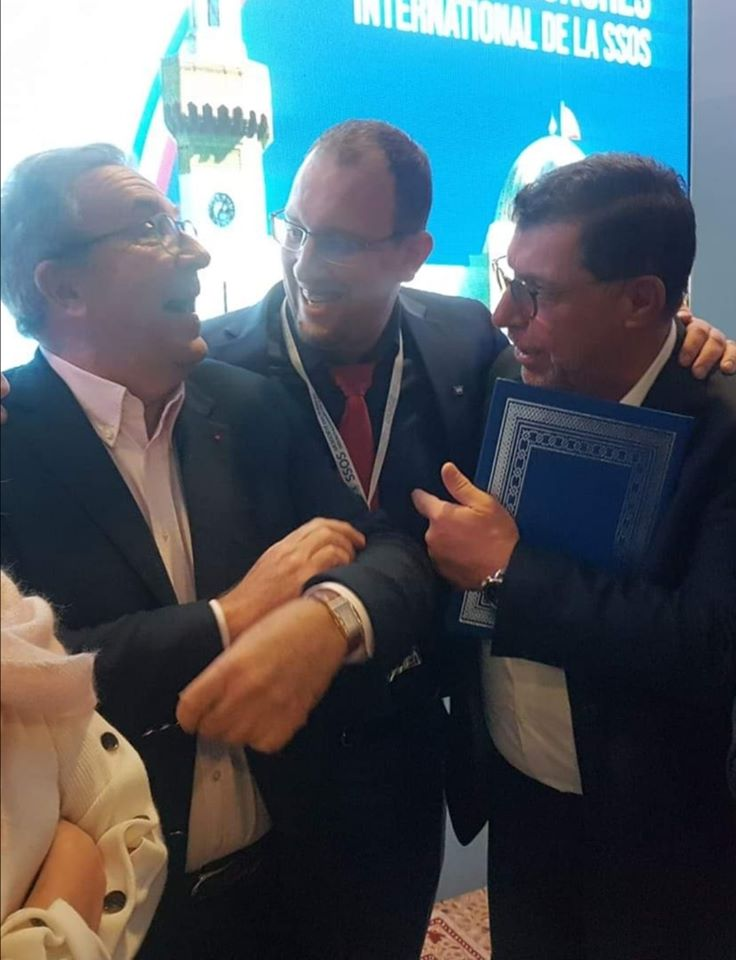 Docteur Touri avec deux grandes sommités Pr Jean-Louis Zadikian et Pr Patrick Missika